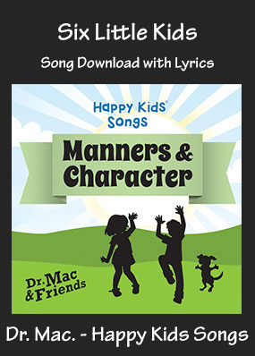 Six Little Kids Song Download with Printables