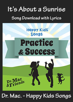 It's About a Sunrise Song Download with Printables