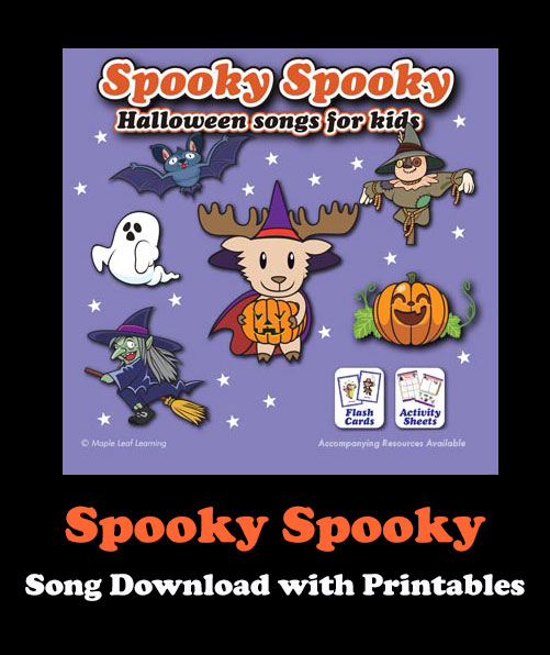 Spooky Spooky Song Download with Printables