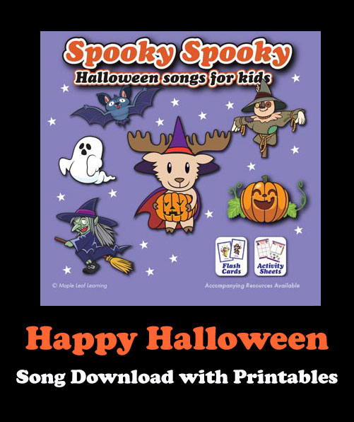 Happy Halloween Song Download with Printables
