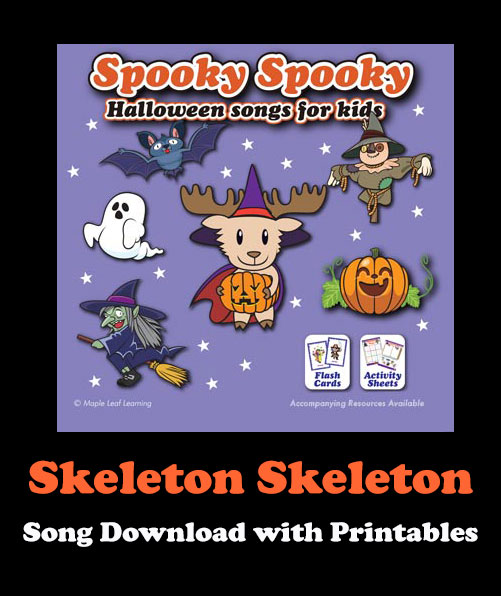 Skeleton Skeleton Song Download with Printables