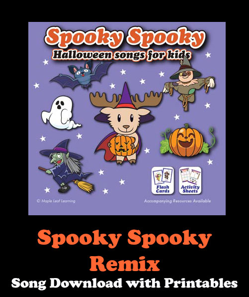 Spooky Spooky Remix Song Download with Printables