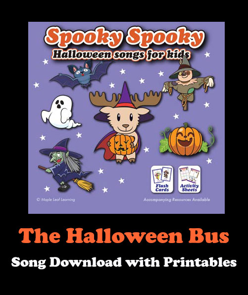 The Halloween Bus Song Download with Printables