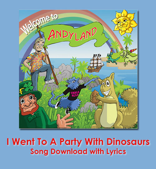 I Went To A Party With Dinosaurs Song Download with Lyrics