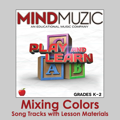 mixing colors downloadable tracks with lyrics and quiz