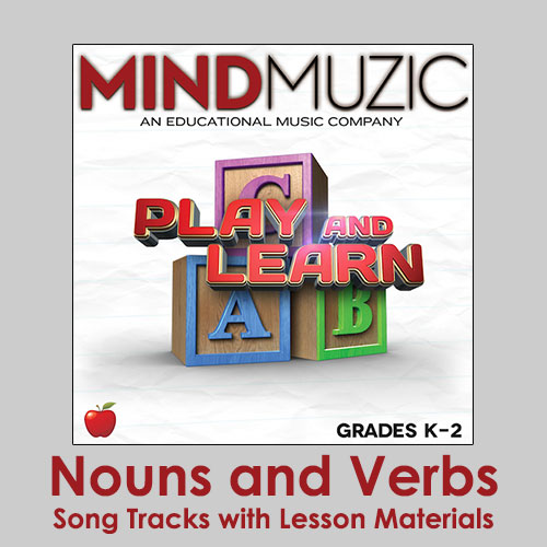 Nouns and Verbs Downloadable Tracks with Lyrics and Quiz