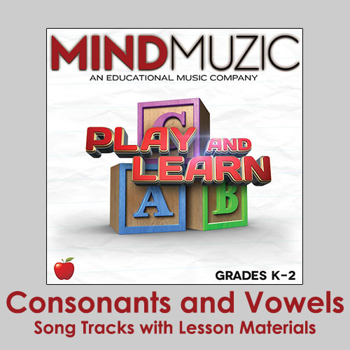Consonants and Vowels Downloadable Tracks with Lyrics and Quiz