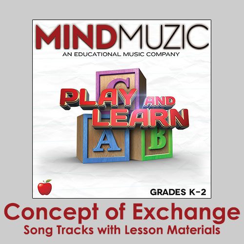 Concept of Exchange Downloadable Tracks with Lyrics and Quiz