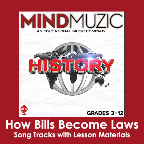 How Bills Become Laws Downloadable Tracks with Lyrics and Quiz