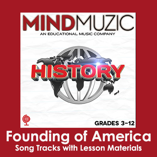 Founding of America Downloadable Tracks with Lyrics and Quiz
