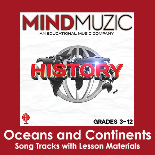 Oceans and Continents Downloadable Tracks with Lyrics and Quiz