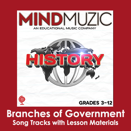 Branches of Government Downloadable Tracks with Lyrics and Quiz