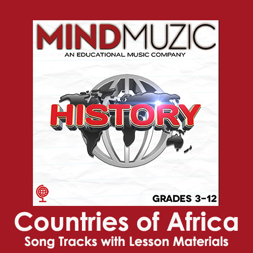 Countries of Africa Downloadable Tracks with Lyrics and Quiz