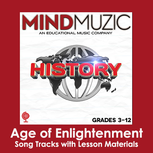 Age of Enlightenment Downloadable Tracks with Lyrics and Quiz