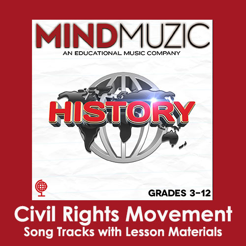 Civil Rights Movement Downloadable Tracks with Lyrics and Quiz