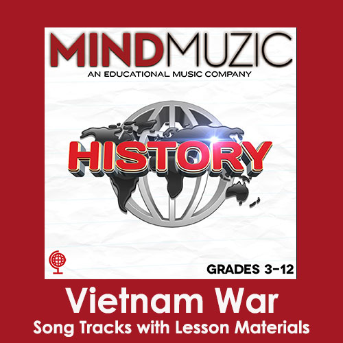 Vietnam War Downloadable Tracks with Lyrics and Quiz