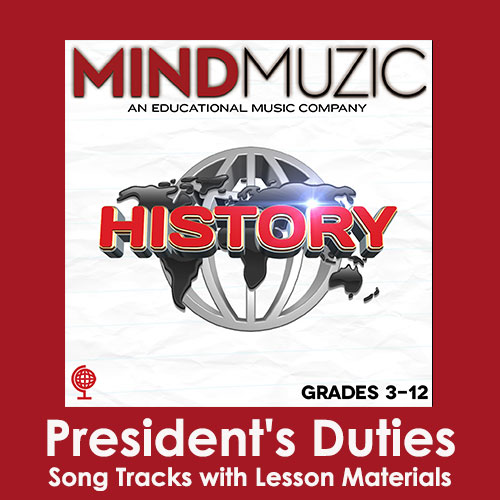 President's Duties Downloadable Tracks with Lyrics and Quiz