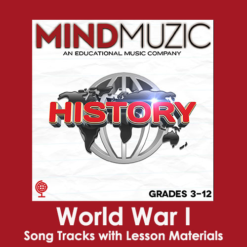 World War I Downloadable Tracks with Lyrics and Quiz