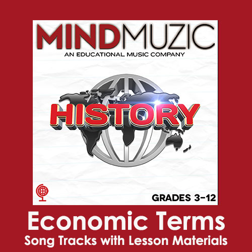 Economic Terms Downloadable Tracks with Lyrics and Quiz
