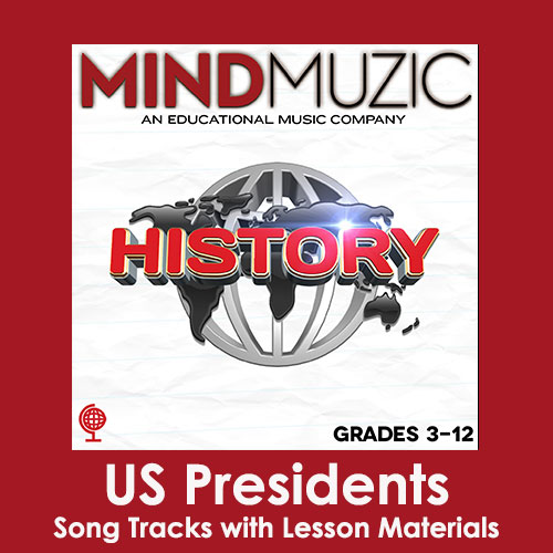 US Presidents Downloadable Tracks with Lyrics and Quiz