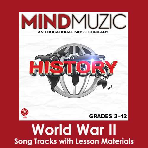 World War II Downloadable Tracks with Lyrics and Quiz