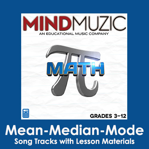 Mean - Median - Mode Downloadable Tracks with Lyrics and Quiz