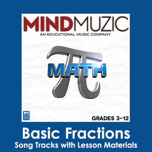 Basic Fractions Downloadable Tracks with Lyrics and Quiz