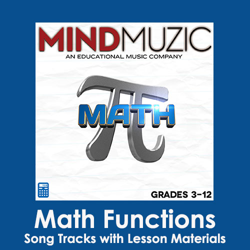 Math Functions Downloadable Tracks with Lyrics and Quiz