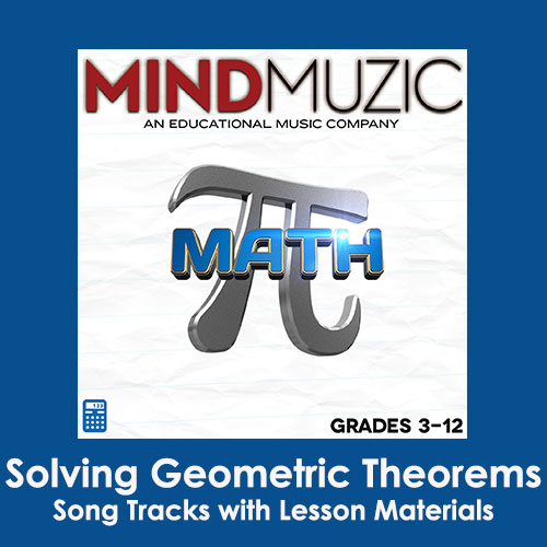 Solving Geometric Theorems Downloadable Tracks with Lyrics and Quiz