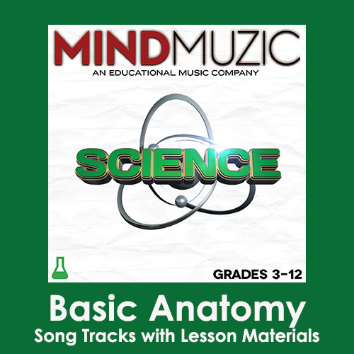 Basic Anatomy Downloadable Tracks with Lyrics and Quiz