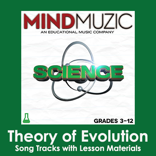 Theory of Evolution Downloadable Tracks with Lyrics and Quiz