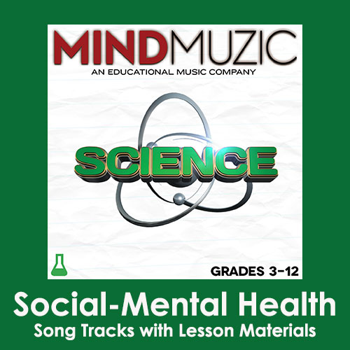 Social-Mental Health Downloadable Tracks with Lyrics and Quiz