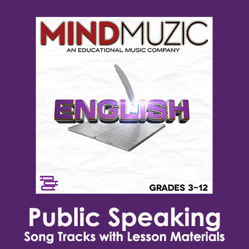 Public Speaking Downloadable Tracks with Lyrics and Quiz