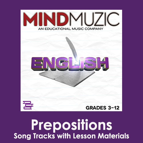 Prepositions Downloadable Tracks with Lyrics and Quiz