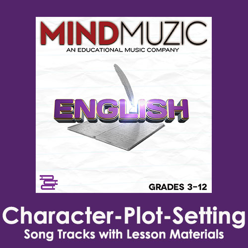 Character-Plot-Setting Downloadable Tracks with Lyrics and Quiz