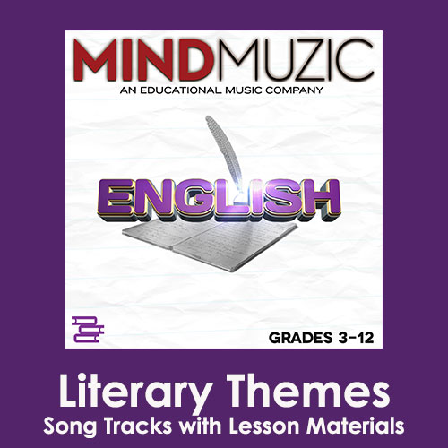 Literary Themes Downloadable Tracks with Lyrics and Quiz
