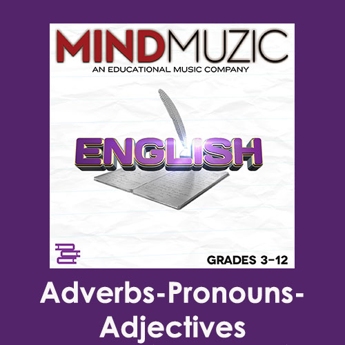 Adverbs-Pronouns-Adjectives Downloadable Tracks with Lyrics and Quiz