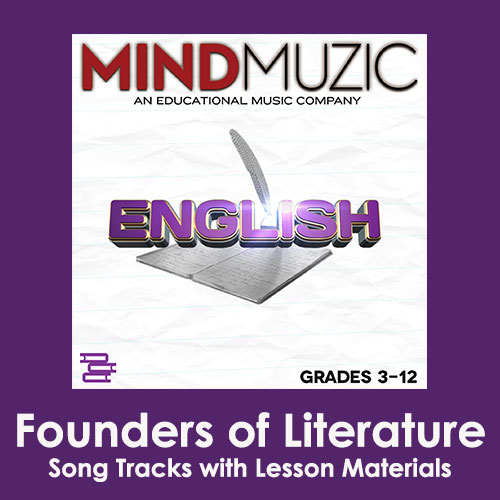 Founders of Literature Downloadable Tracks with Lyrics and Quiz