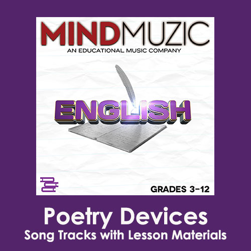 Poetry Devices Downloadable Tracks with Lyrics and Quiz
