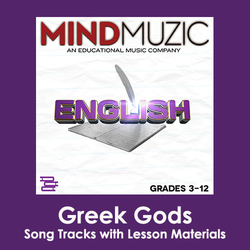 Greek Gods Downloadable Tracks with Lyrics and Quiz