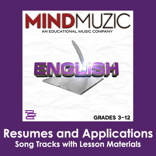 Resumes and Applications Downloadable Tracks with Lyrics and Quiz