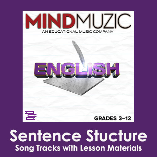 Sentence Stucture Downloadable Tracks with Lyrics and Quiz