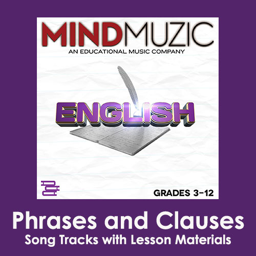 Phrases and Clauses Downloadable Tracks with Lyrics and Quiz