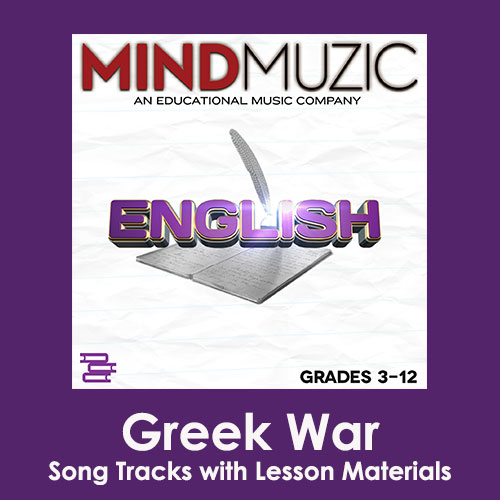 Greek War Downloadable Tracks with Lyrics and Quiz