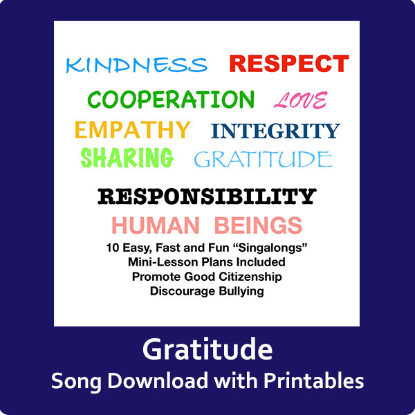 Gratitude Song Download with Printables