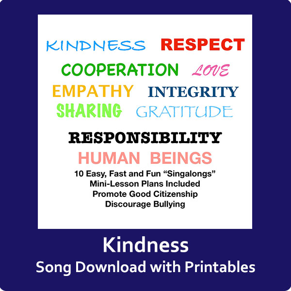 Kindness Song Download with Printables