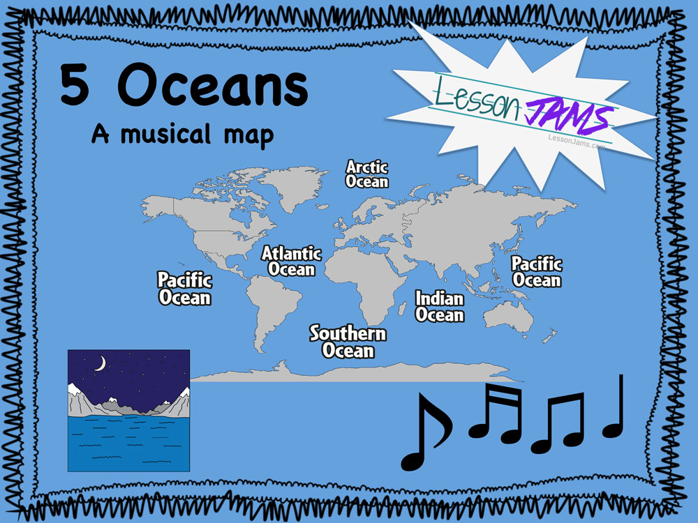 Five Oceans Geography Song with Lyrics