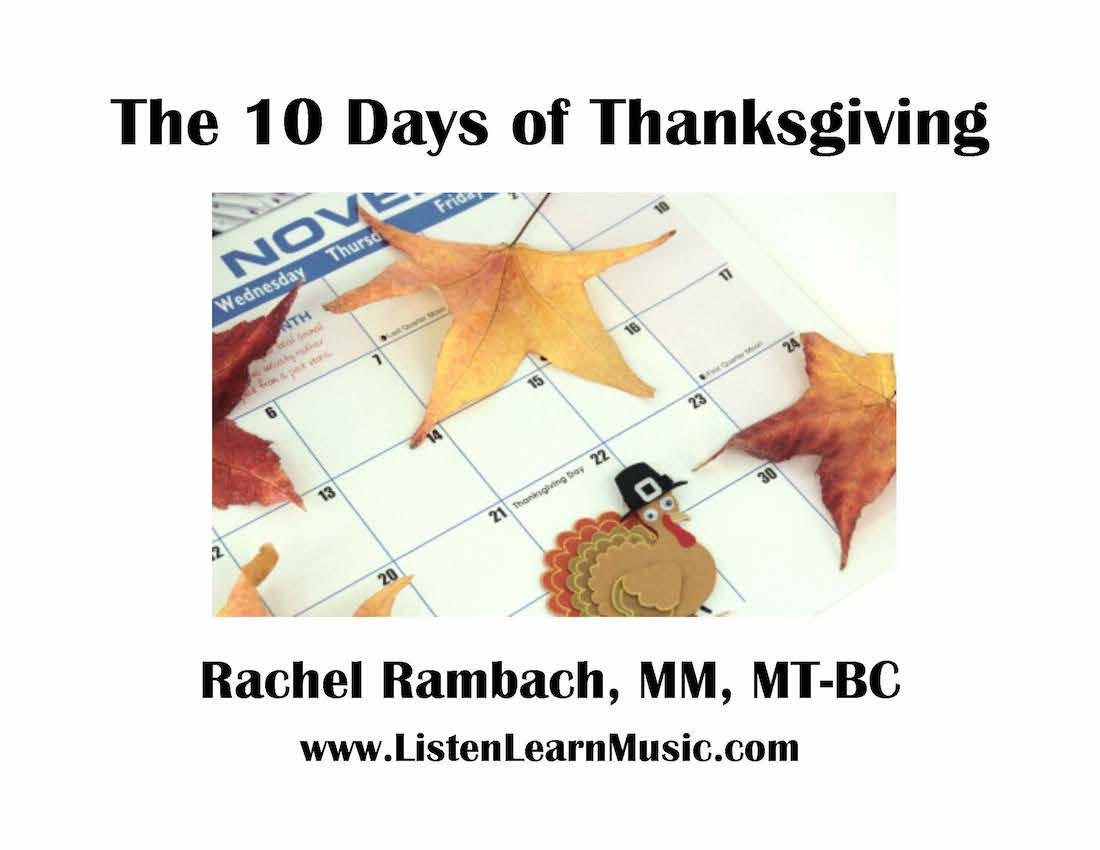 Ten Days of Thanksgiving Downloadable Tracks with Lyrics