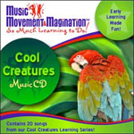 Cool Creatures:  Educational Music CD or Download