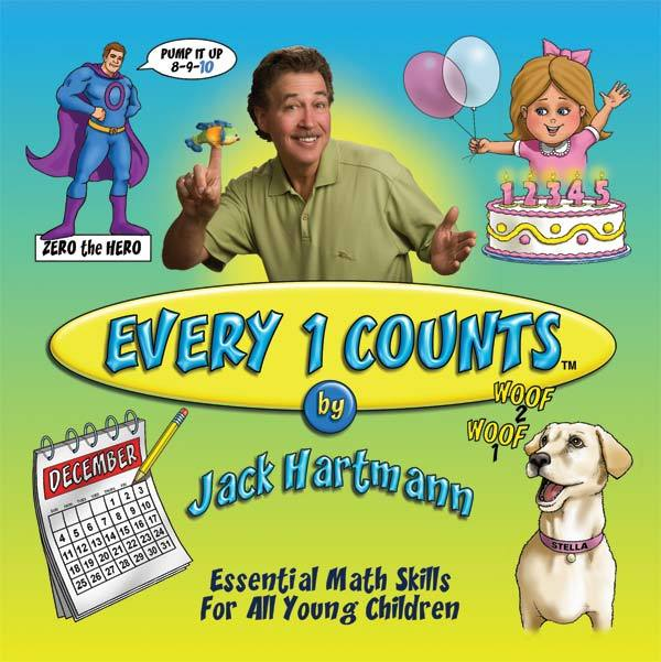 Jack Hartmann:  Every 1 Counts Downloadable Album with Lyrics